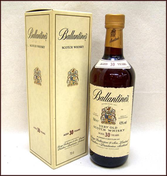 東京都千代田区でバランタイン 30年 ベリーオールド スコッチウイスキー 箱付き 700mlを12,000円でお買取りさせていただきました。
