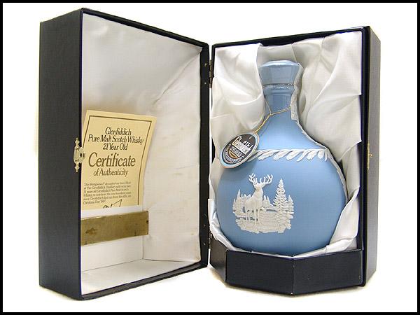 【グレンフィディック21年 ウェッジウッド陶器デカンタ・箱付】 30,000円でお買取しました。