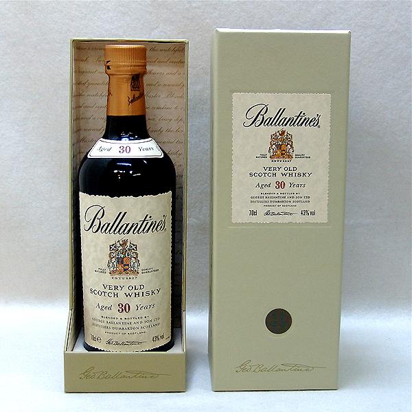 東京都文京区でバランタイン 30年 ベリーオールド スコッチウイスキー 700ml 箱付きを15,000円でお買取りさせていただきました。