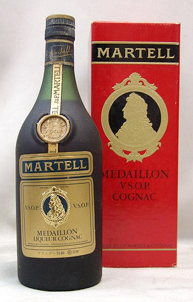 東京都大田区でMARTELL MEDAILLON マーテル メダイヨン V.S.O.P. コニャック 700ml  箱付きを3,000円でお買取りさせていただきました。