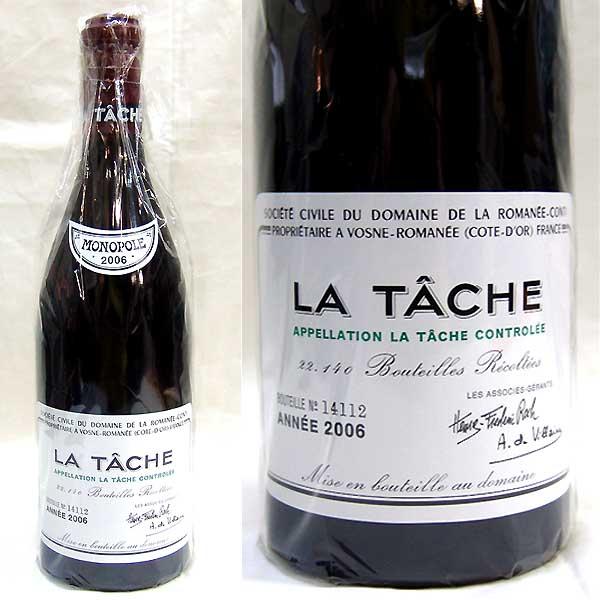 埼玉県さいたま市でDRC ラ ターシュ 2006 フランス 赤ワイン 750mlを200,000円でお買取りさせていただきました。