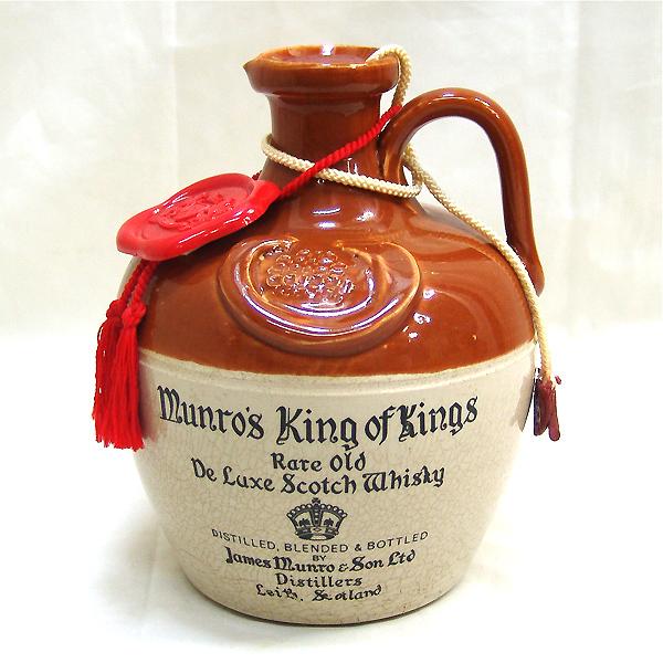 東京都西東京市でマンローズ キング・オブ・キングス スコッチウイスキー 陶器ボト  ルを1,000円でお買取りさせていただきました。